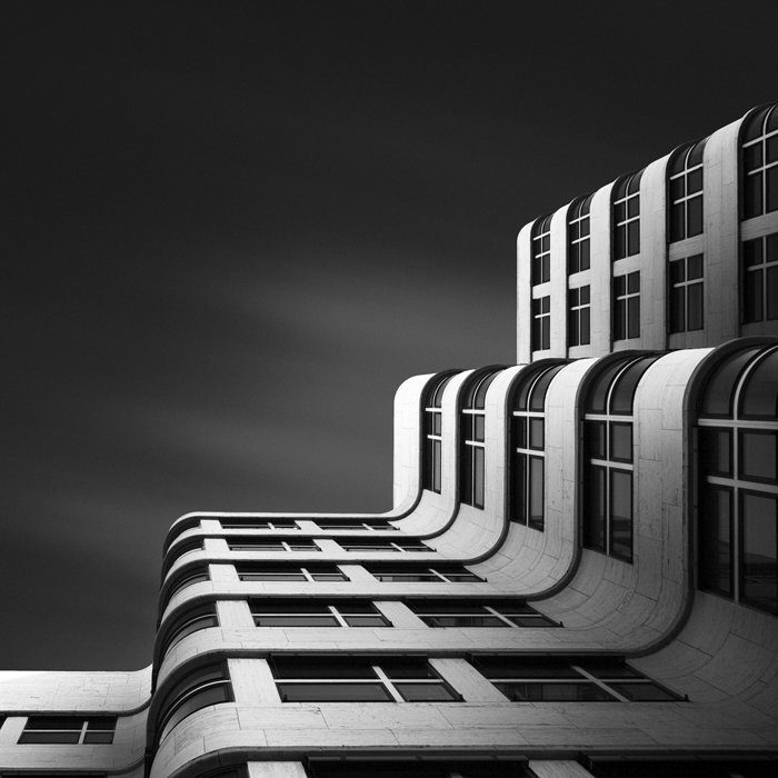 (6) Shell Haus Berlin (c) Joel Tjintjelaar   Shell Haus Berlin and Tempodrom are also part of the Shape of Light series and both were shot during the highly entertaining Euro Photo walk in Berlin that became quite a hit! The first G+ Euro photo walk that I co-organized with a few other prominent people on G+. The processing time of these images and especially the Shell Haus became gradually longer per photo and  exceeded 80 hours.