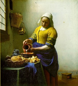 The Milkmaid  - Johannes Vermeer c. 1657-1658  (Google Image Search)