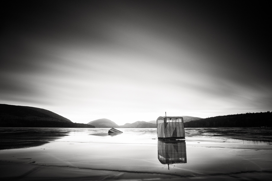 """Ice Shacks on Thin Ice"" (c) Nate Parker"