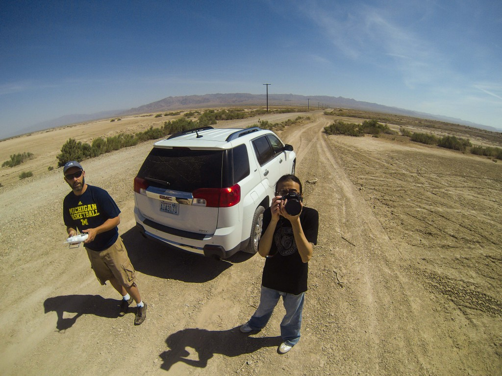 Jeff Engelhardt and Kevin Saint Grey at the Salton Sea