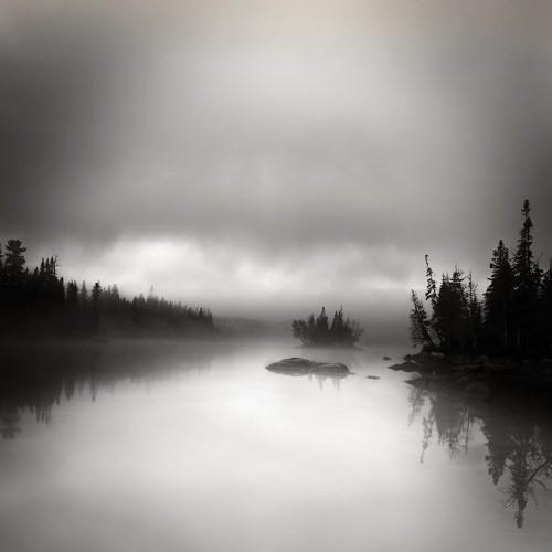 Morning Fog on Rabbit Blanket Pond (c) Jan Bell